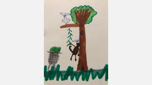 """Galerija namuose TRIVIUM ir Antakalnio bendruomenė skelbia vaikų piešinių konkursą """"Medžiai ir jų gyventojai"""""""
