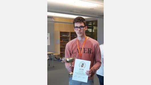 Baltijos šalių chemijos olimpiadoje KTU mokinys iškovojo antrąją vietą