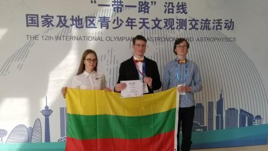Jaunasis astronomas Kinijoje laimėjo bronzos medalį