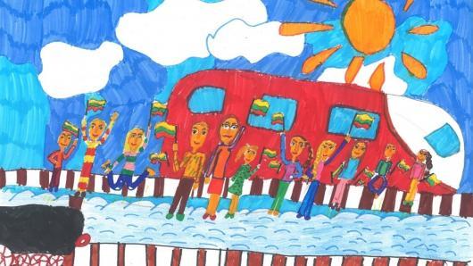 """Mokinių piešinių konkurso """"Mes užaugome laisvi"""" darbų paroda"""