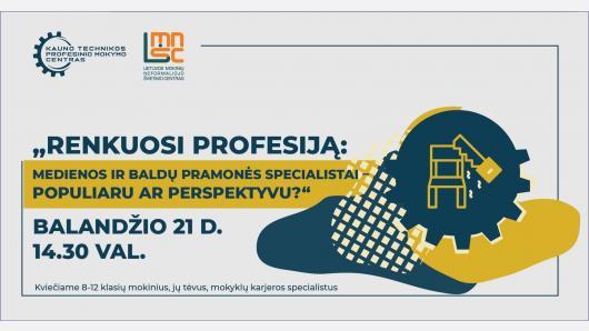 Renkuosi profesiją: medienos ir baldų pramonės specialistai – populiaru ar perspektyvu?