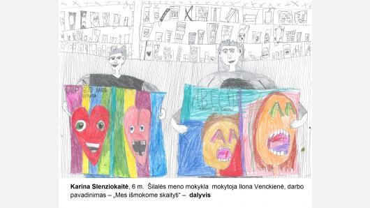 """Skelbiami piešinių konkurso """"Knygų namų šviesa"""" laimėtojai"""