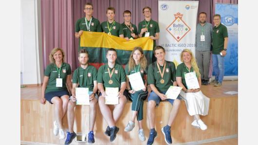 Baltijos šalių geografijos olimpiadoje – aukso, sidabro ir bronzos medaliai