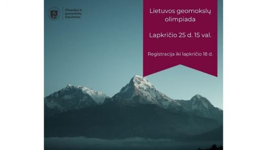 Kviečiame dalyvauti geomokslų olimpiadoje