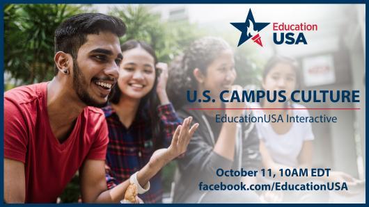 Pasaulinis EducationUSA tinklas organizuoja Facebook Live transliaciją apie užsienio studentų gyvenimą JAV universituose