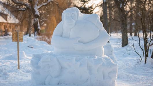 """Šeimos kviečiamos dalyvauti akcijoje """"Lipdyk sniego orangutanus ir tu!"""""""